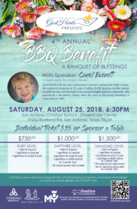 Invitation to 2018 Banquet of Blessings