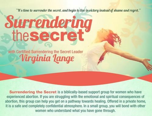 Now Registering – Spring Surrendering the Secret Class